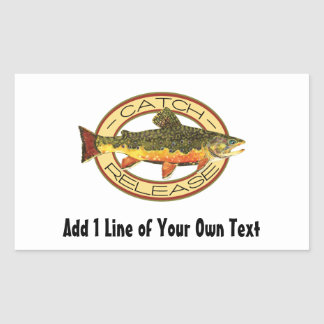 Catch and Release Fishing Rectangular Sticker