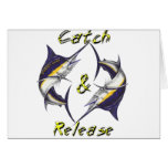 Catch and Release Marlins Greeting Card
