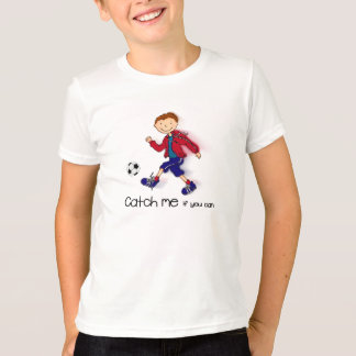 Catch me if you can footballer t-shirt red