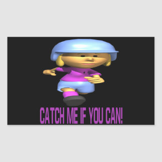 Catch Me If You Can Rectangle Sticker