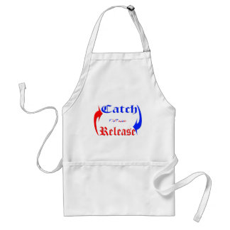 Catch n Release in Blue Red Apron
