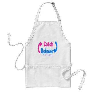 Catch n Release pink/blue Adult Apron