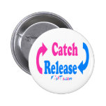 Catch n Release pink/blue Badges
