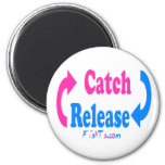 Catch n Release pink/blue Magnet