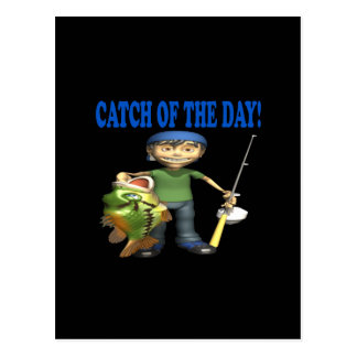Catch Of The Day Postcard