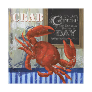 Catch of the day Seafood crab Canvas Canvas Print