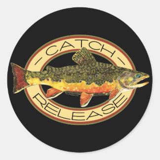 Catch & Release Fishing Round Sticker