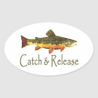 Catch & Release Trout Fishing Stickers