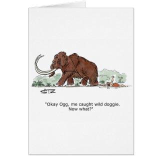 Catch the elephant doggie greeting card