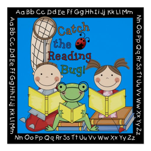 Catch the Reading Bug Classroom Poster