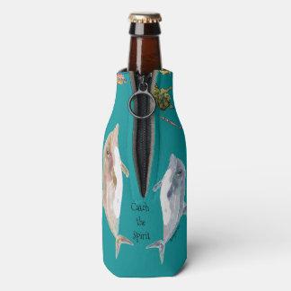 Catch the Spirit Dolphins Fish Ocean Bottle Cooler
