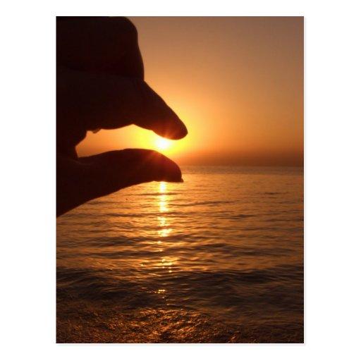 Catch the sun - Orange ocean sunrise Post Card