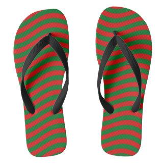 CATCH THE WAVE - CHRISTMAS STRIPES ~ ~.jpg Flip Flops