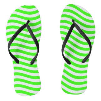 CATCH THE WAVE - NEON GREEN ~~ FLIP FLOPS