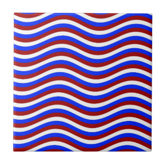 CATCH THE WAVE - PATRIOTIC ~ ~ SMALL SQUARE TILE