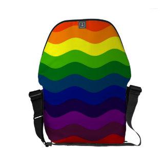 CATCH THE WAVE - RAINBOW STRIPES ~v.2~ Messenger Bag