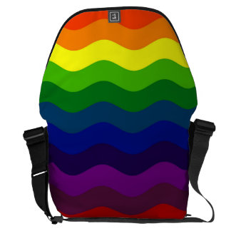CATCH THE WAVE - RAINBOW STRIPES ~v.2~ Messenger Bags