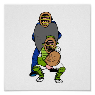 Catcher and Umpire Poster