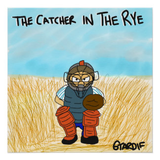 Catcher in the Rye Baseball Poster