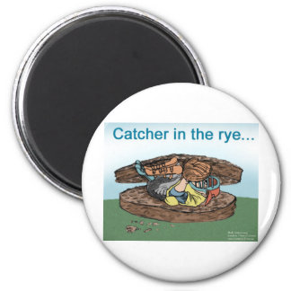 Catcher In The Rye Funny Tees Cards Mugs Gifts Etc 6 Cm Round Magnet