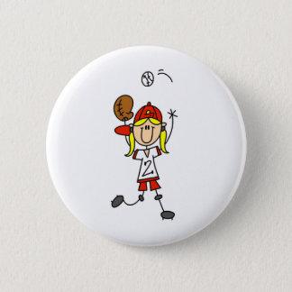 Catching A Softball Button