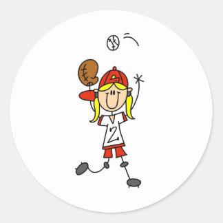 Catching A Softball Sticker