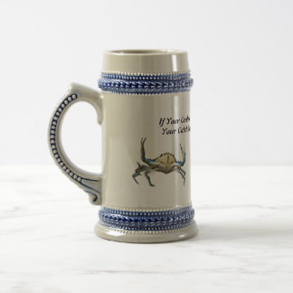 Catching Crabs, Funny,  Beer Stein