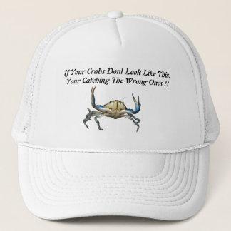 Catching Crabs, Funny White Truckers Cap. Trucker Hat