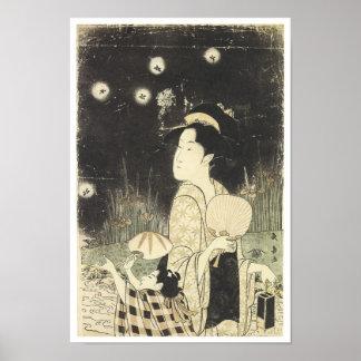 Catching Fireflies, Choki, 1795 Poster