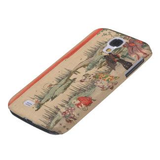 Catching Fireflies (colour woodcut) Galaxy S4 Case