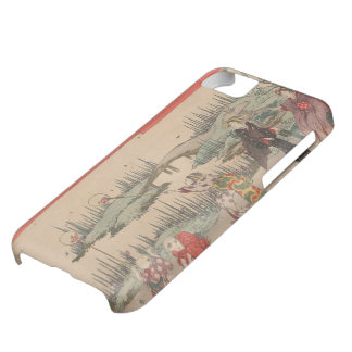 Catching Fireflies (colour woodcut) iPhone 5C Case