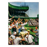 Catching Home Run Ball Greeting Cards