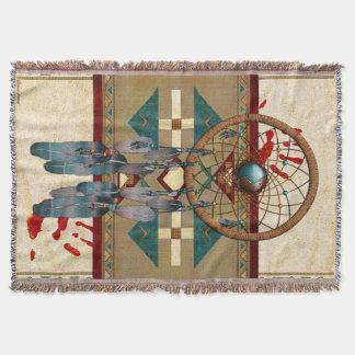 Catching Spirit Native American Throw Blanket