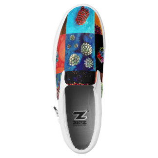 Catchy Viral Zipz Slip On Sneakers-men/women Printed Shoes