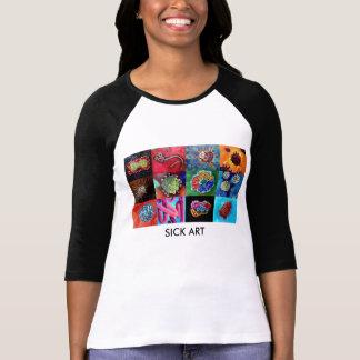 Catchy Virus T-Shirts for Women- SICK ART