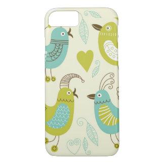 cate cartoon birds iPhone 8/7 case