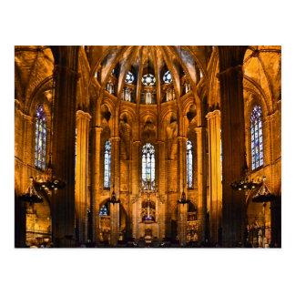 catedral de barcelona postkarte