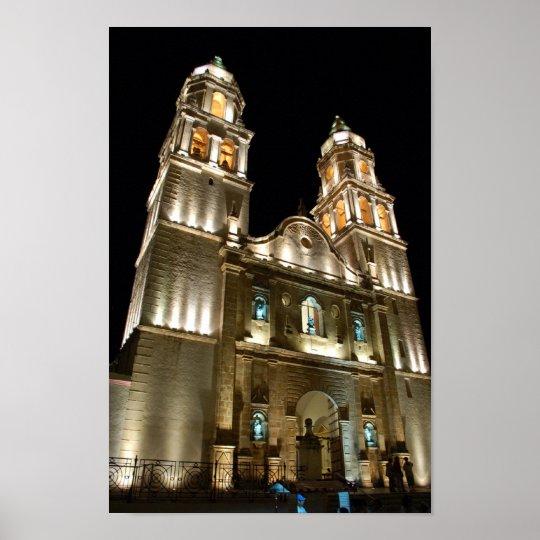 Catedral de Campeche Poster