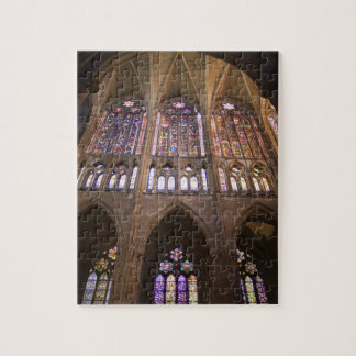 Catedral de Leon, interior stained glass windows 2 Jigsaw Puzzle