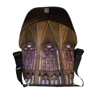 Catedral de Leon, interior stained glass windows 2 Messenger Bag
