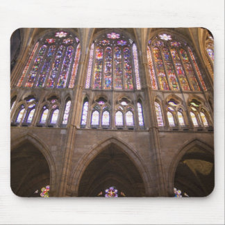 Catedral de Leon, interior stained glass windows 2 Mouse Pad
