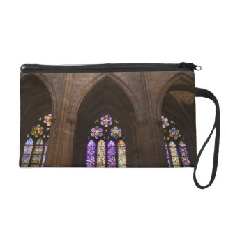 Catedral de Leon, interior stained glass windows 2 Wristlet Clutches