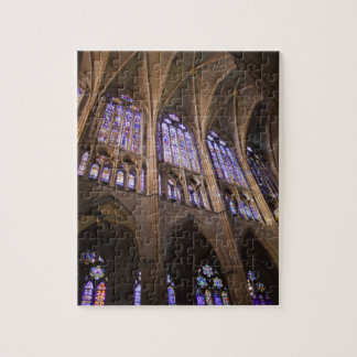 Catedral de Leon, interior stained glass windows Jigsaw Puzzle