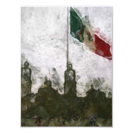 Catedral en el Zocalo del DF con la Bandera 4 Art Photo