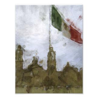 Catedral en el Zocalo del DF con la Bandera 5.jpg Photograph