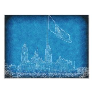 Catedral en el Zocalo del DF con la Bandera 9.jpg Photo