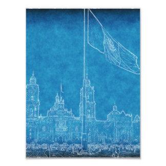 Catedral en el Zocalo del DF con la Bandera 9.jpg Photograph