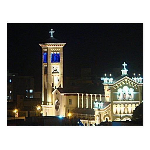 Catedral en la Noche Post Cards