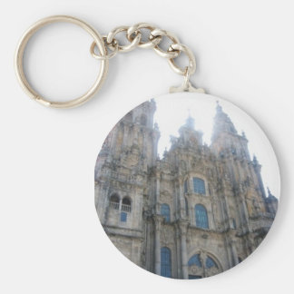Catedral Santiago de Compostela Basic Round Button Key Ring