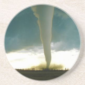 Category F5 Tornado Approaching Elie Manitoba Drink Coasters